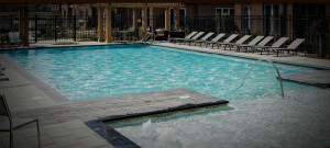 The pool and sun deck at The Yards